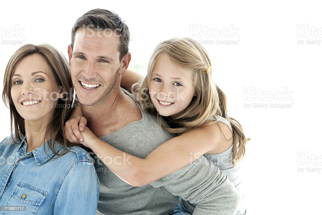 Proud of their daughter stock photo