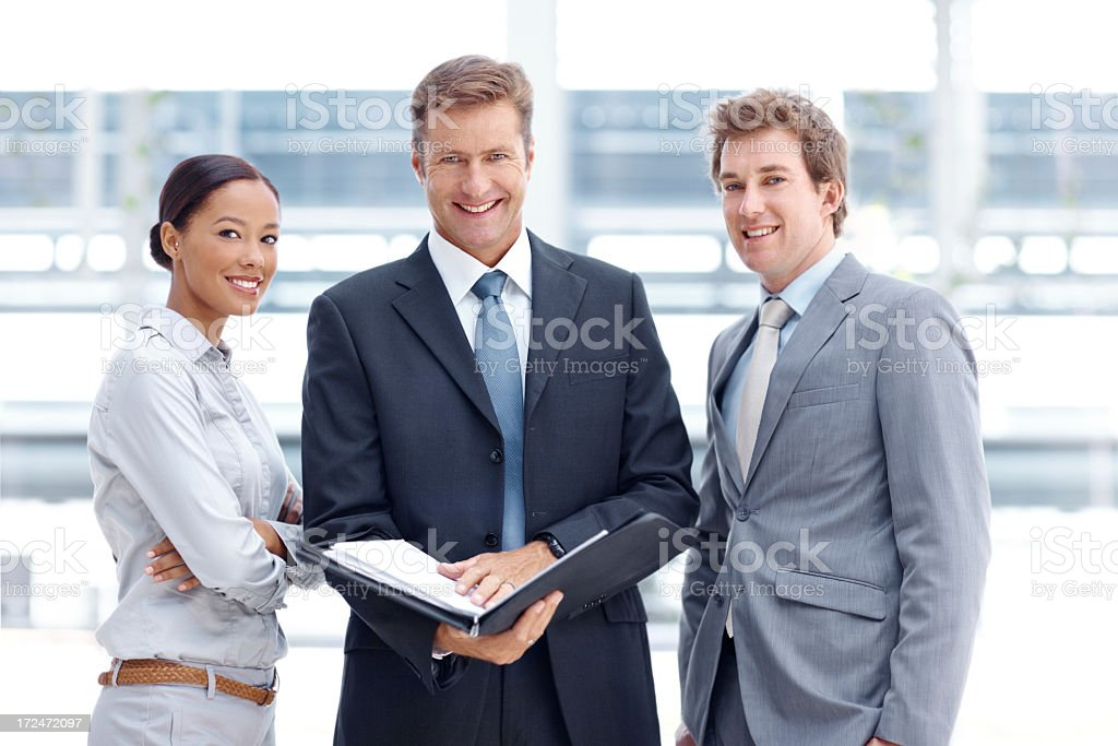 Proud of their project pitch royalty-free stock photo