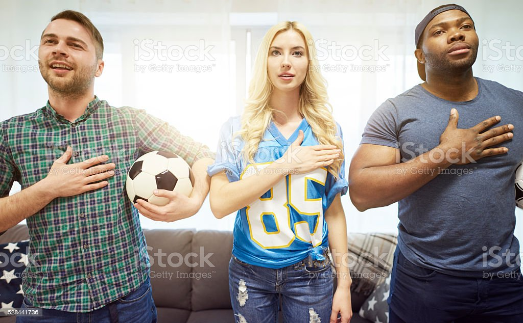 Proud of their soccer team
