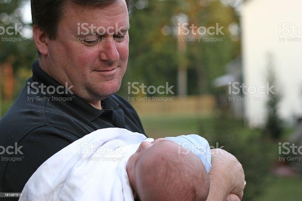 Proud Papa royalty-free stock photo