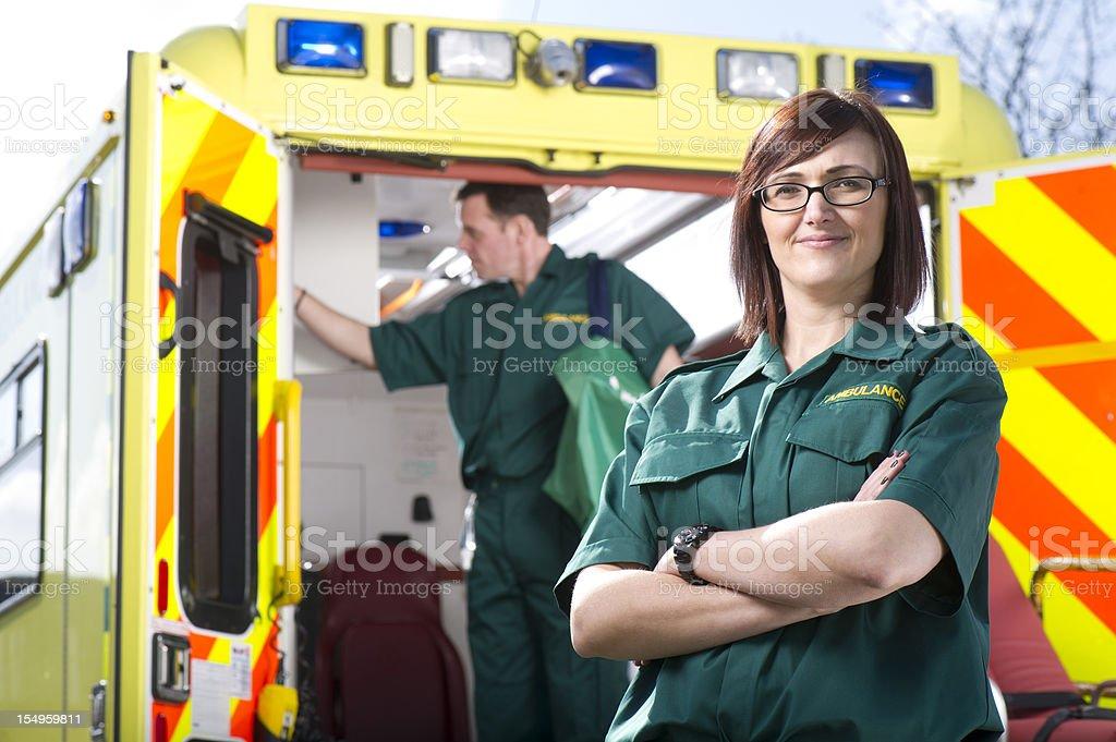 proud paramedic stock photo