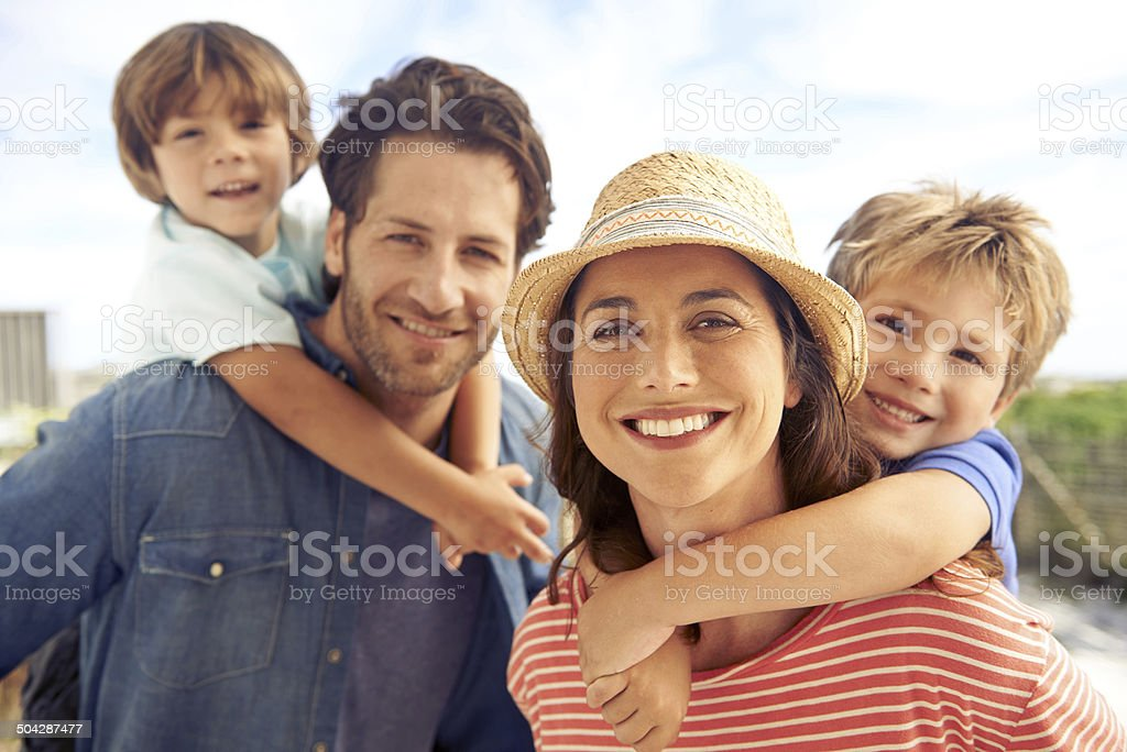 Proud parents stock photo