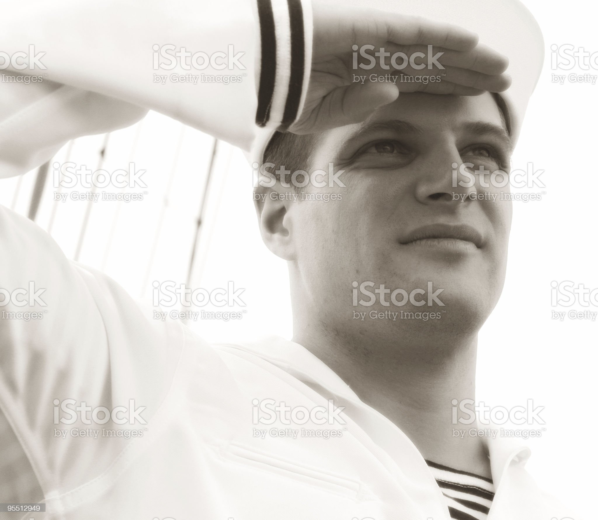 Proud Sailor royalty-free stock photo
