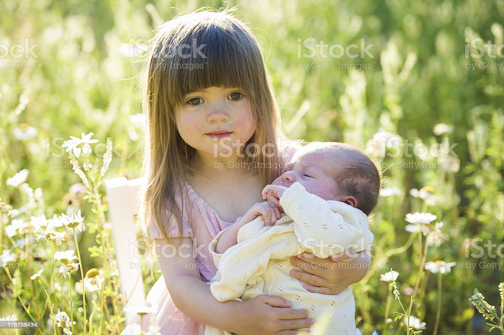 Proud Sister royalty-free stock photo