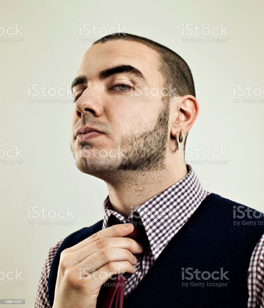Proud skinhead. stock photo