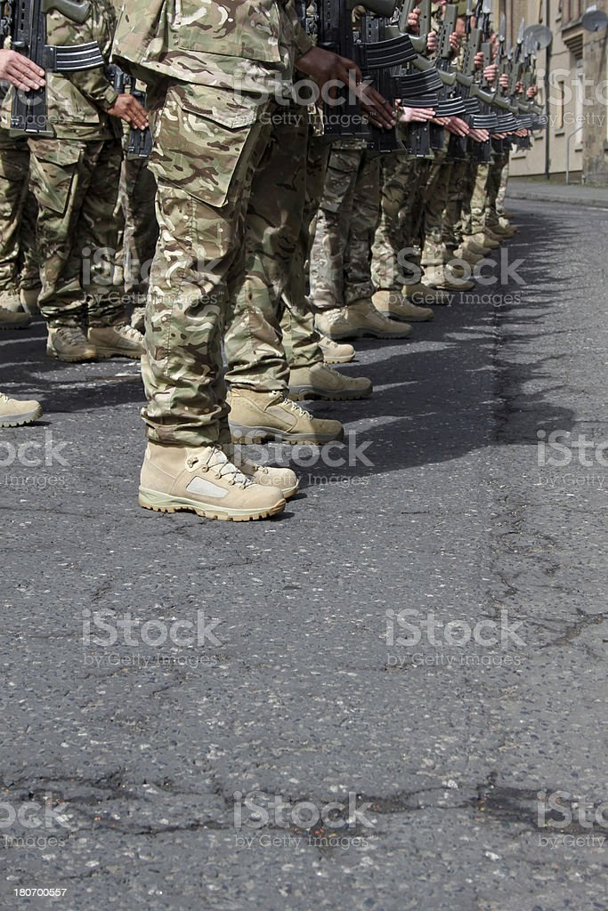 Proud Soldiers. stock photo