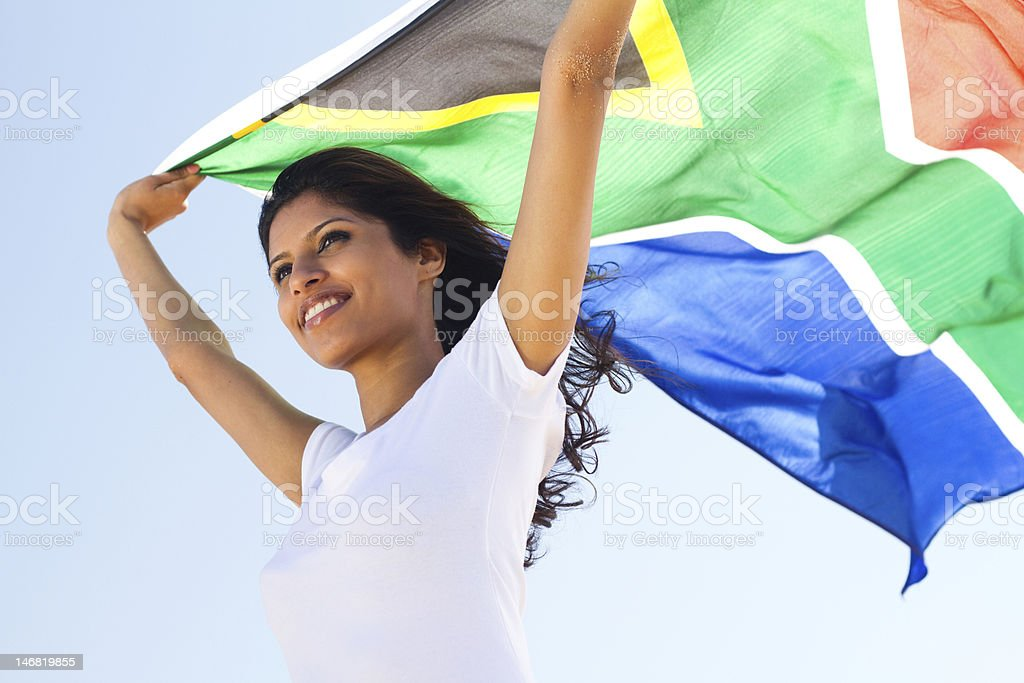 proud south african royalty-free stock photo