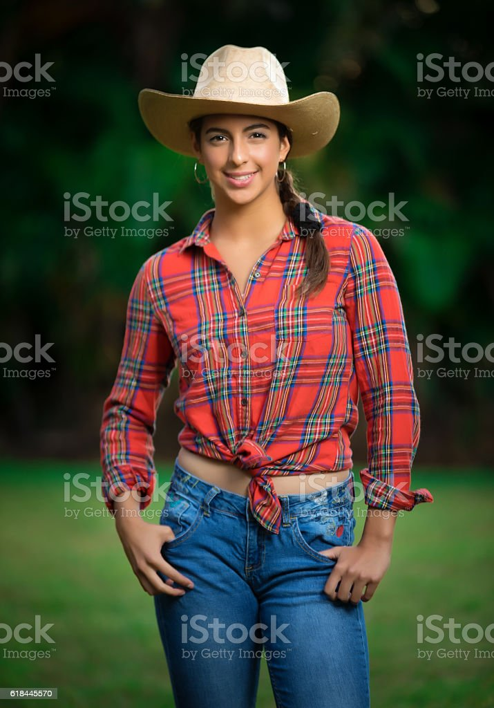 Proud to be a country gal stock photo