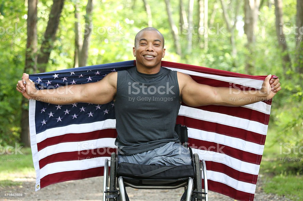 proud to be American stock photo