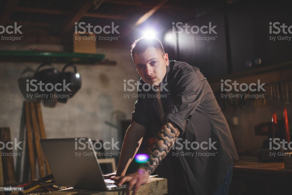 Proud to be an Engineer of This Workshop stock photo