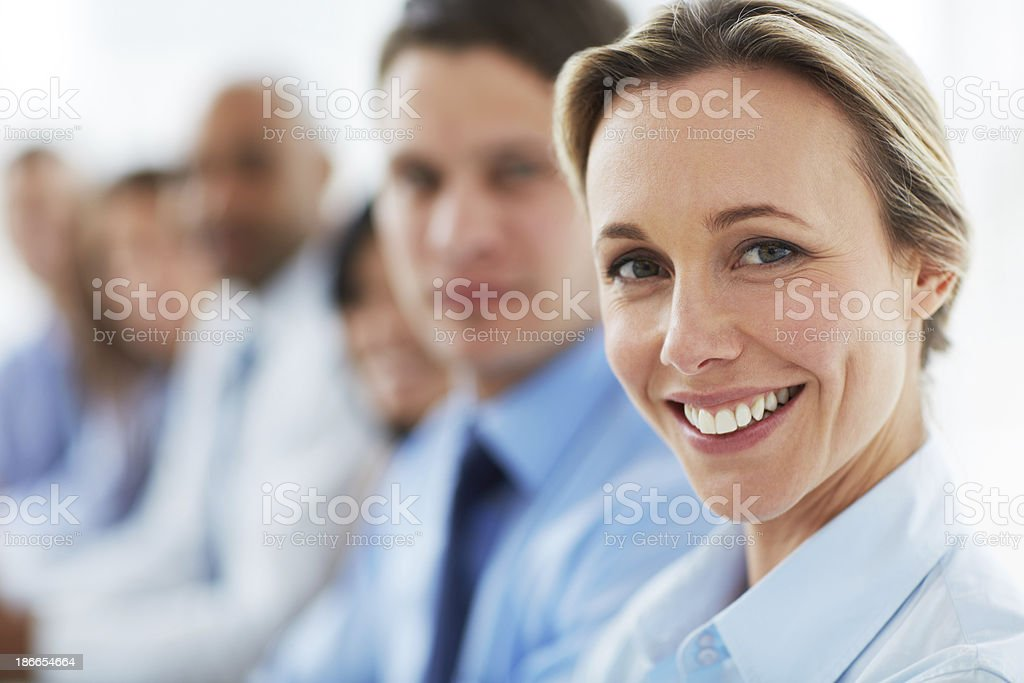 Proud to be part of a vibrant team royalty-free stock photo