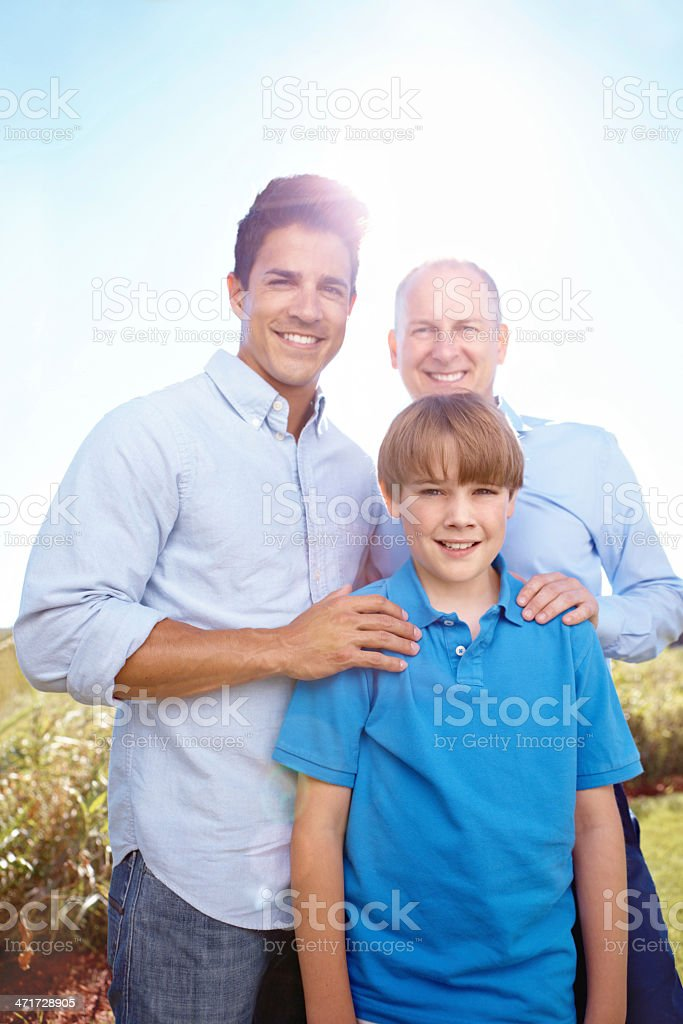 Proud to be part of their family royalty-free stock photo