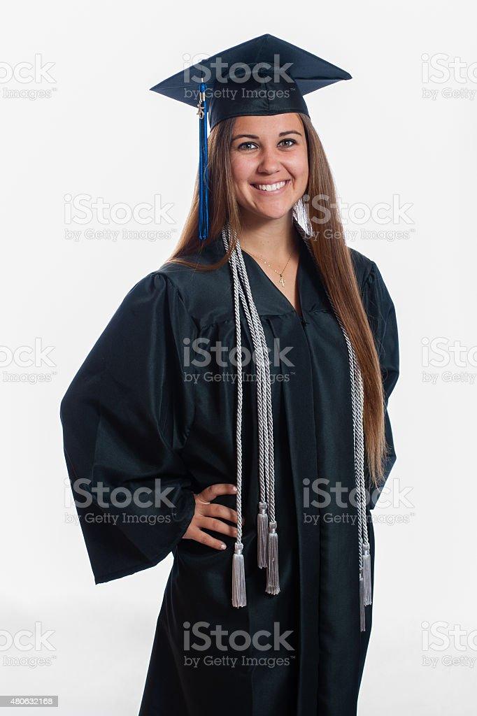 Proud to graduate stock photo
