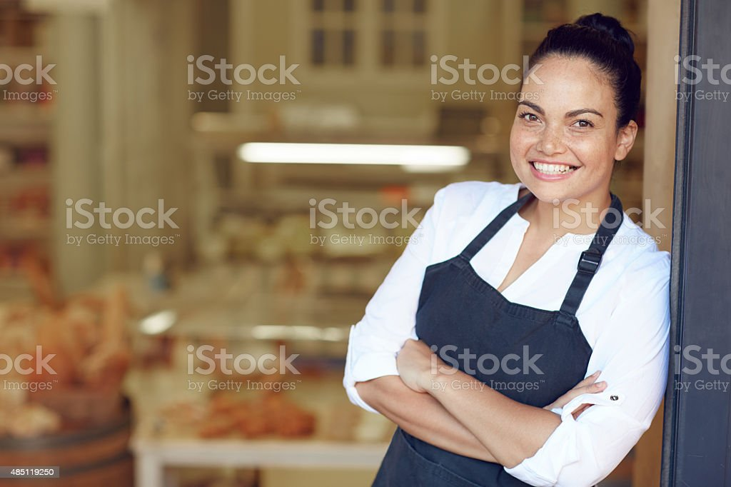 Proud to say I'm open for business stock photo