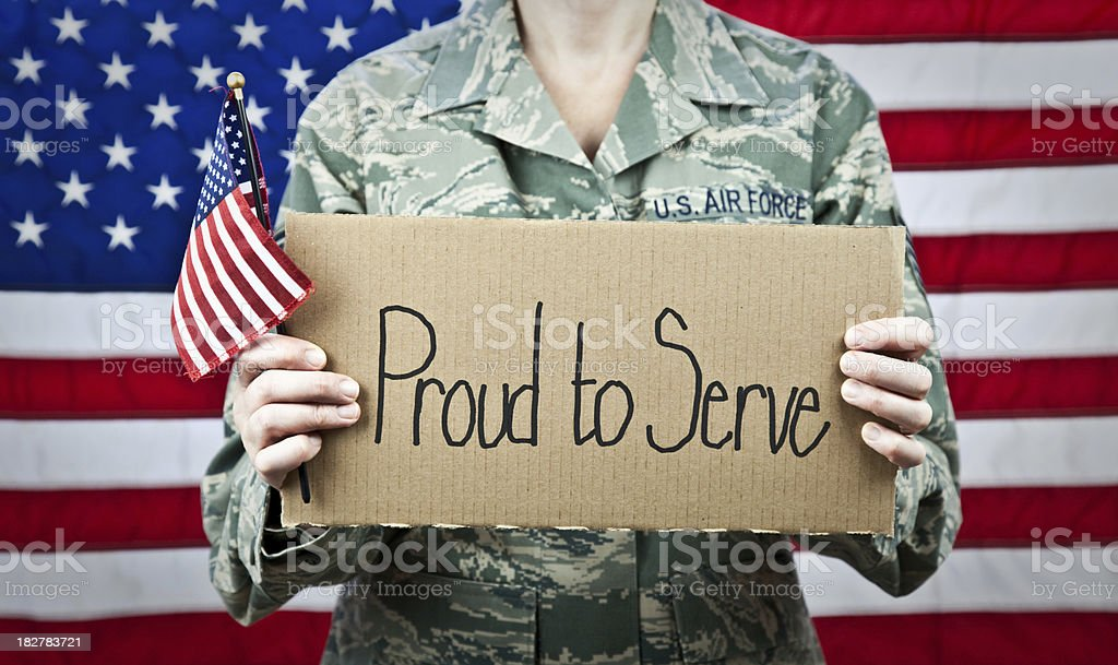 Proud to Serve in the Military royalty-free stock photo