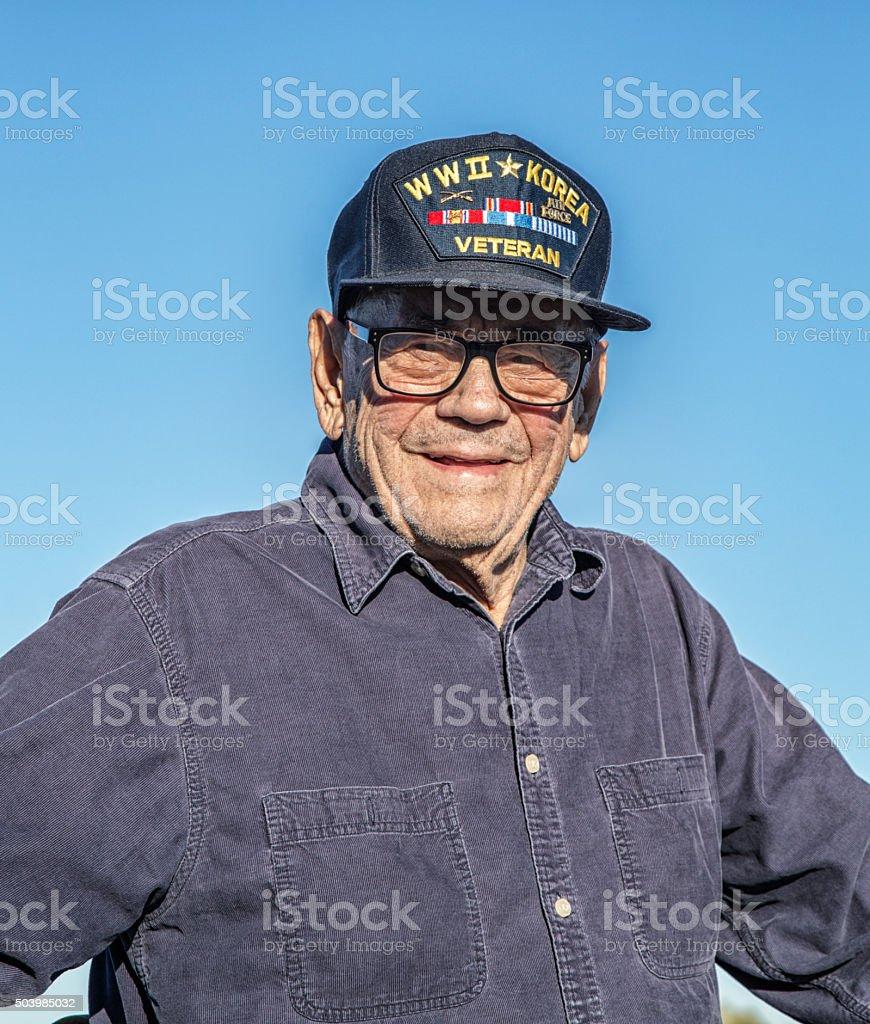 Proud USA WWII Korea Military Veteran stock photo