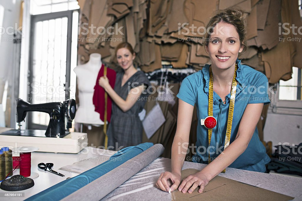 Proud with their work royalty-free stock photo