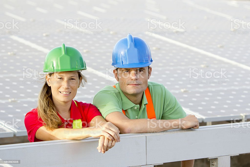 Proud workers royalty-free stock photo