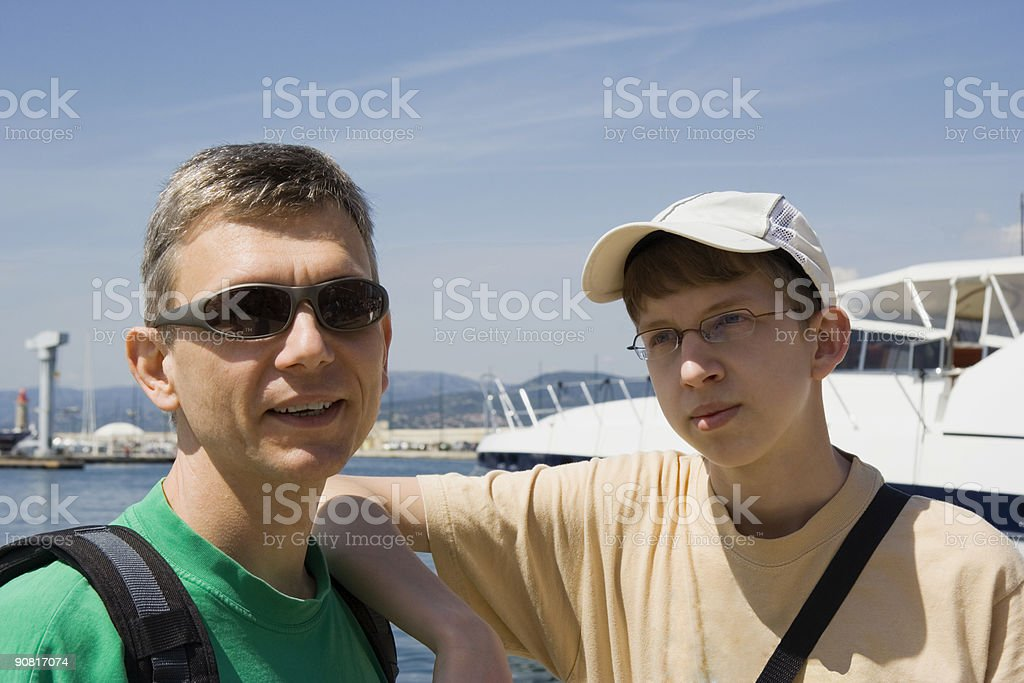 proud yacht owners royalty-free stock photo