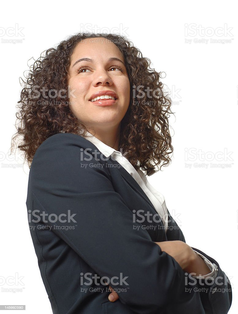 Proud young businesswoman royalty-free stock photo