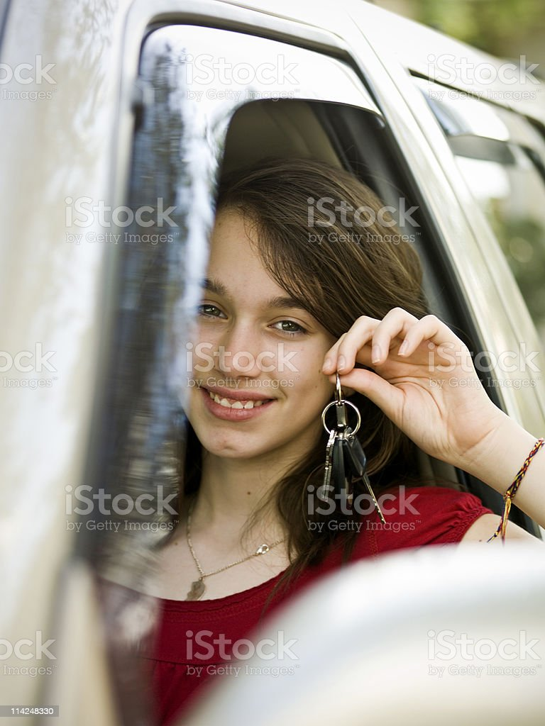 Proud young driver royalty-free stock photo