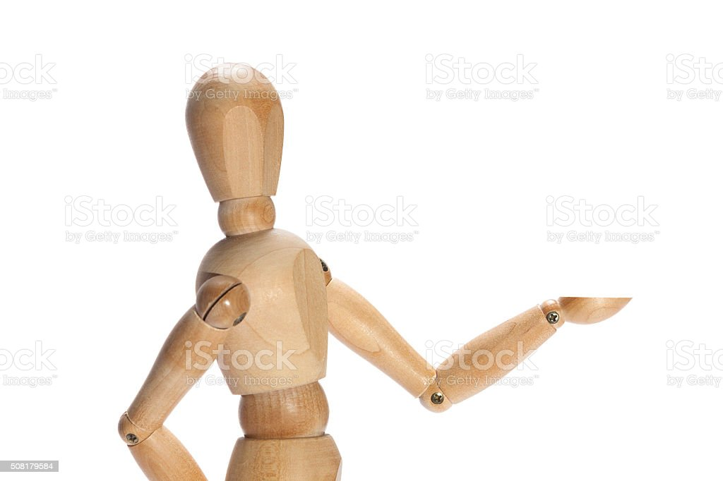 Proudly presenting stock photo