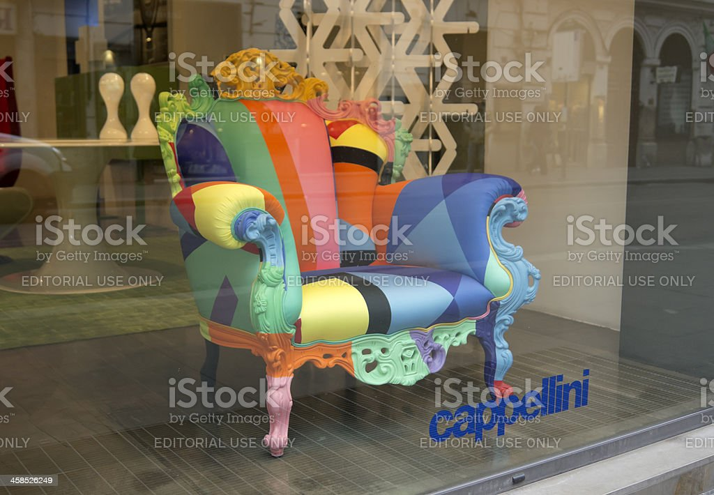 Proust Geometica Chair by Alessandro Mendini royalty-free stock photo