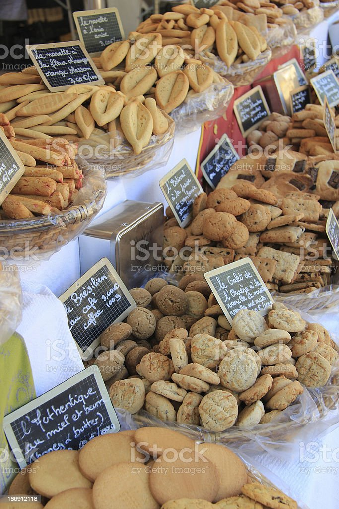Provencal cookies royalty-free stock photo