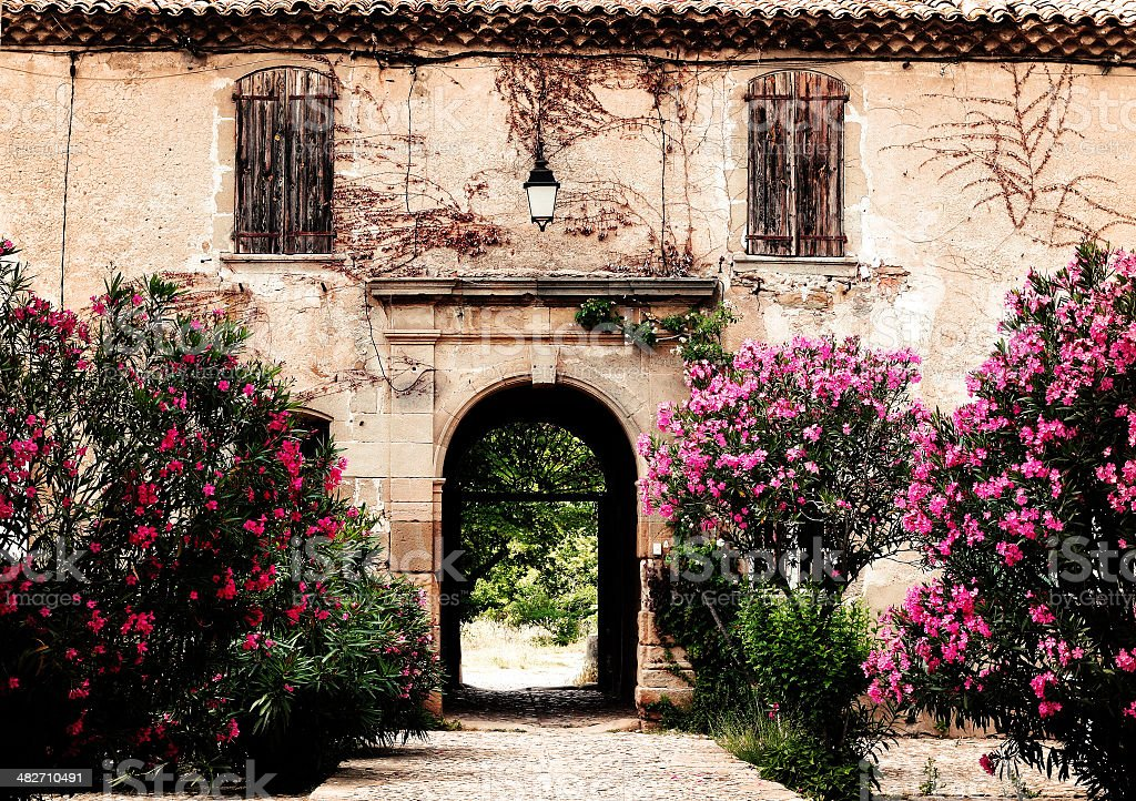 provencal country house stock photo