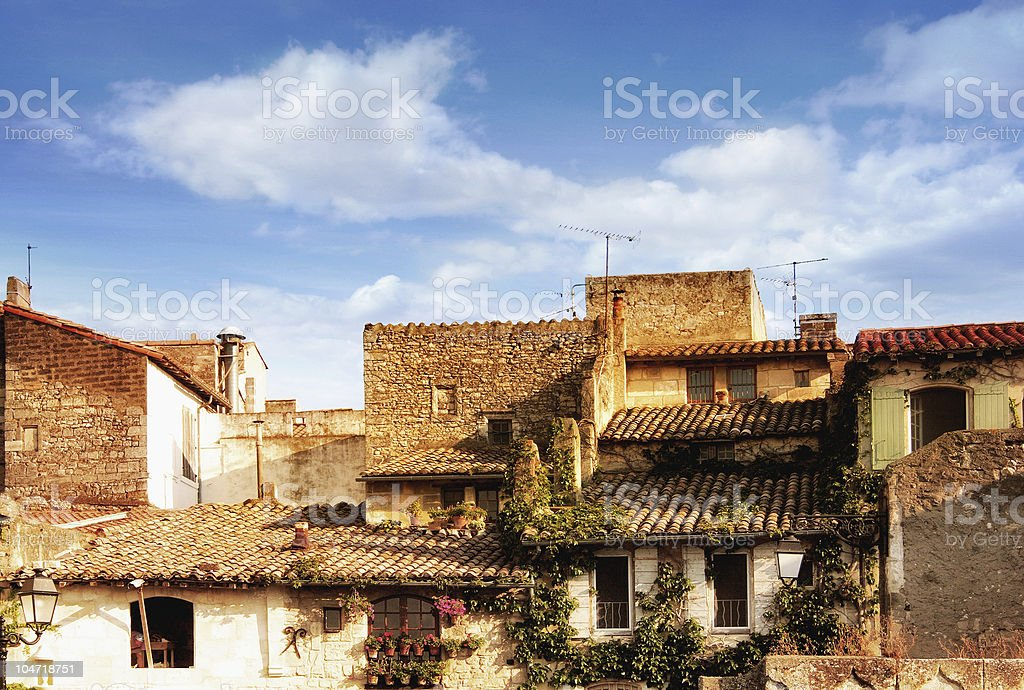 Provencal country houses royalty-free stock photo