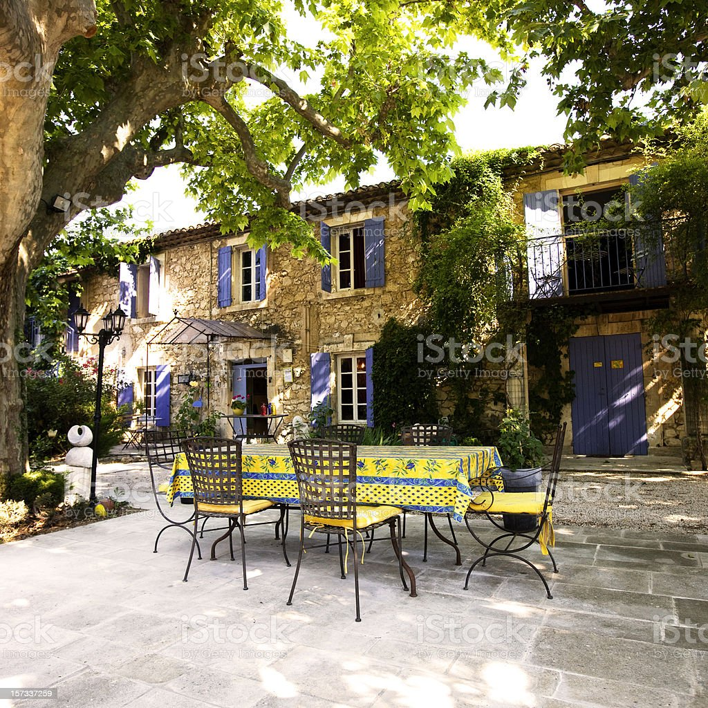 Provencal farm stock photo