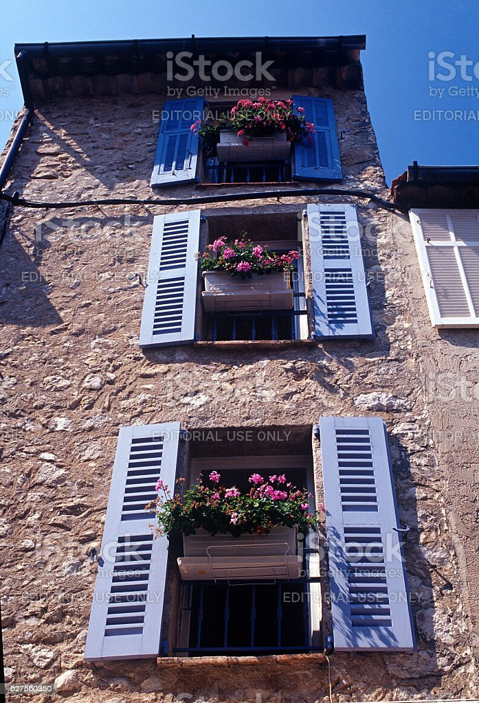 provencale village alpes maritime france stock photo