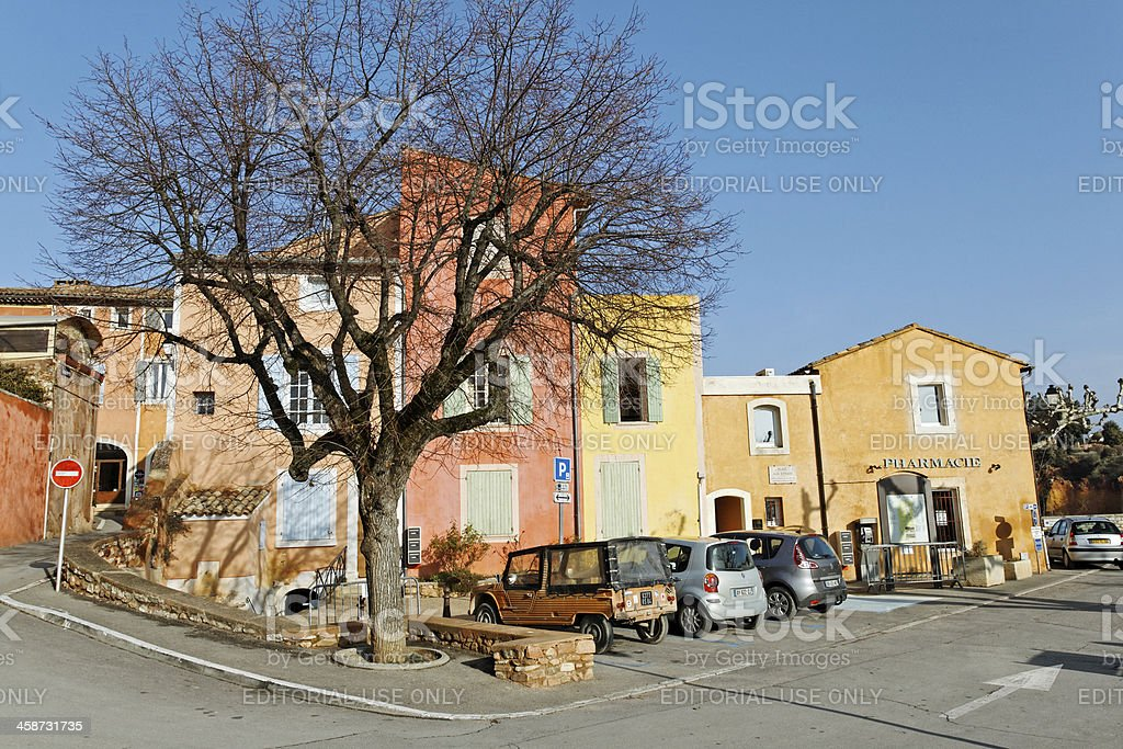 Provence - Colorful houses in the village Roussillon royalty-free stock photo