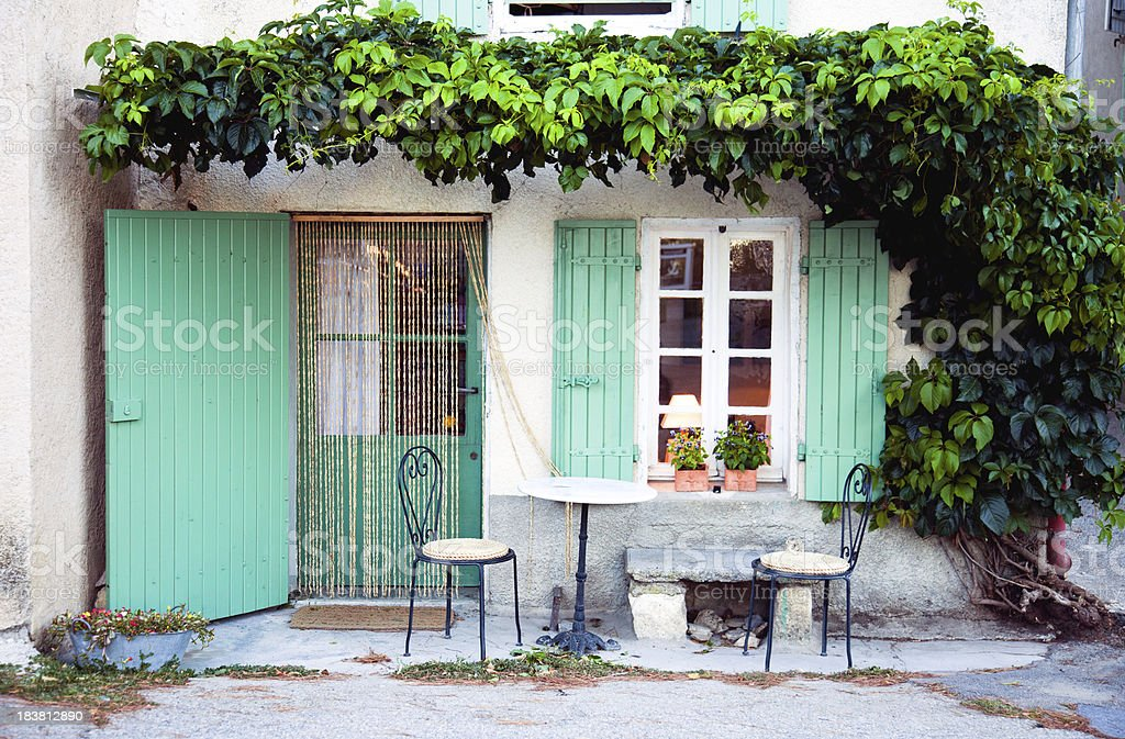 Provence facade stock photo