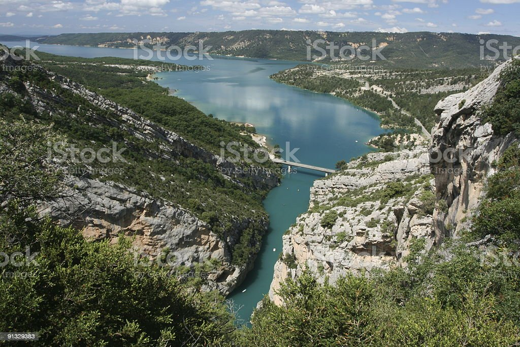 Provence Lake St Croix Panorama Summer Top View stock photo