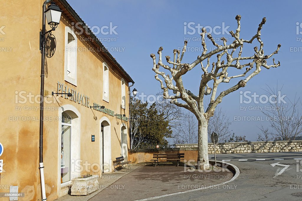 Provence - The Pharmacy in Roussillon royalty-free stock photo