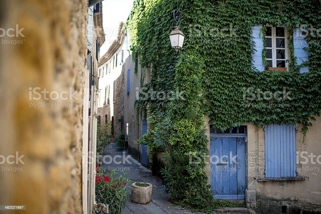 Provence typical city stock photo