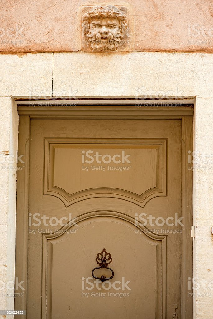 Provence typical door stock photo