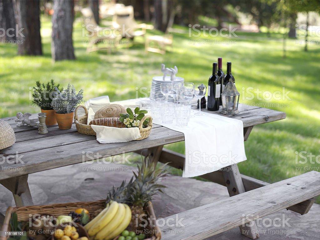 Provencial picnic royalty-free stock photo