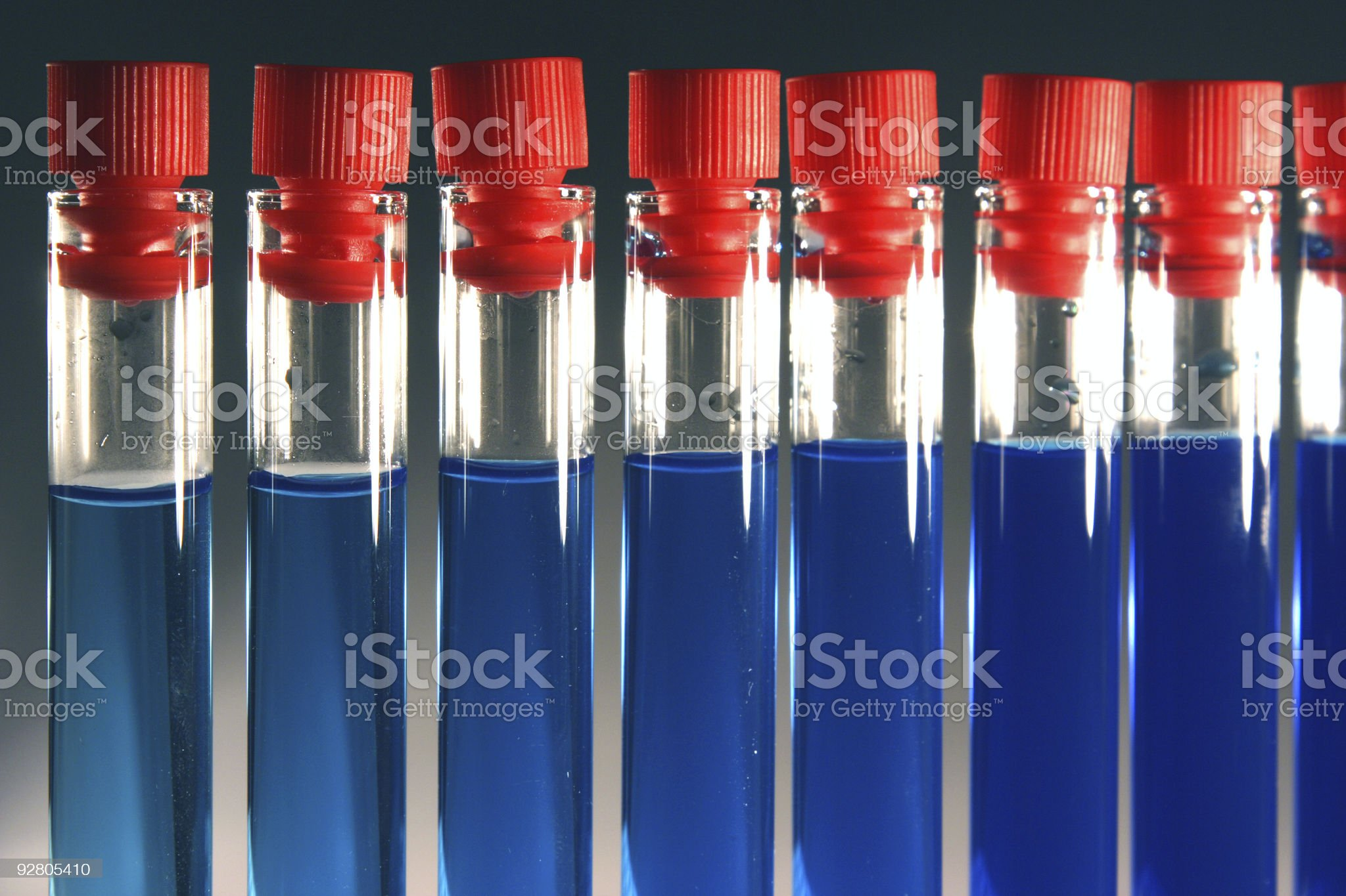 Provette blu I royalty-free stock photo