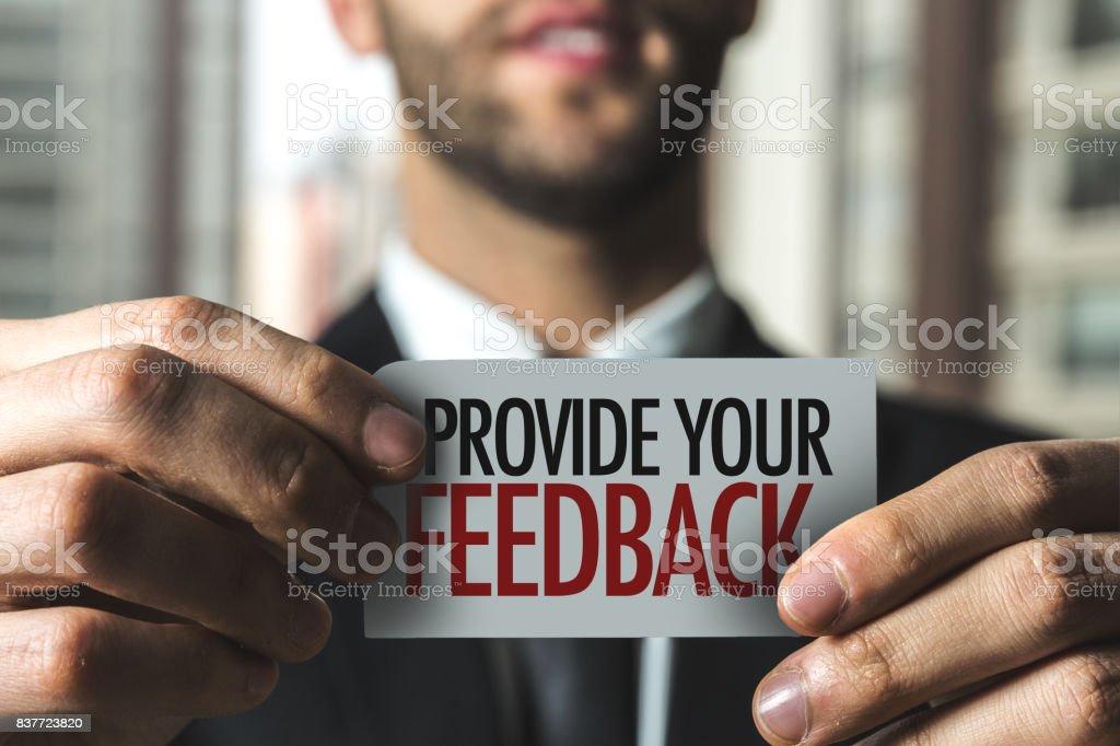 Provide Your Feedback stock photo