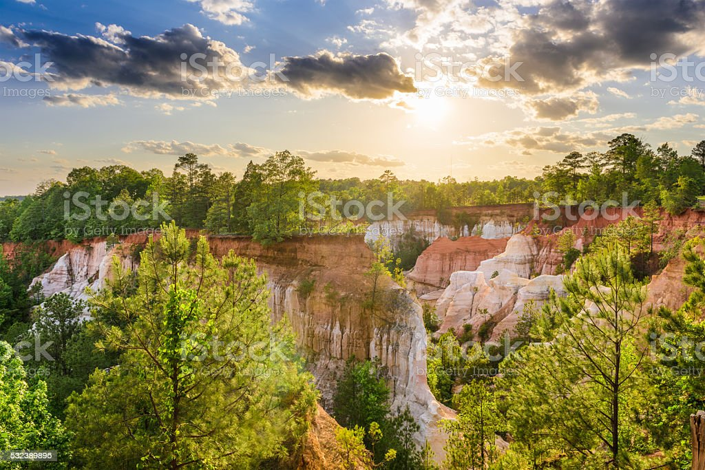 Providence Canyon Georgia stock photo