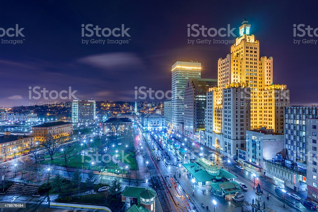 Providence Cityscape stock photo