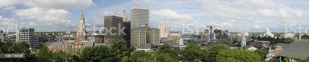 Providence Downtown Panorama stock photo