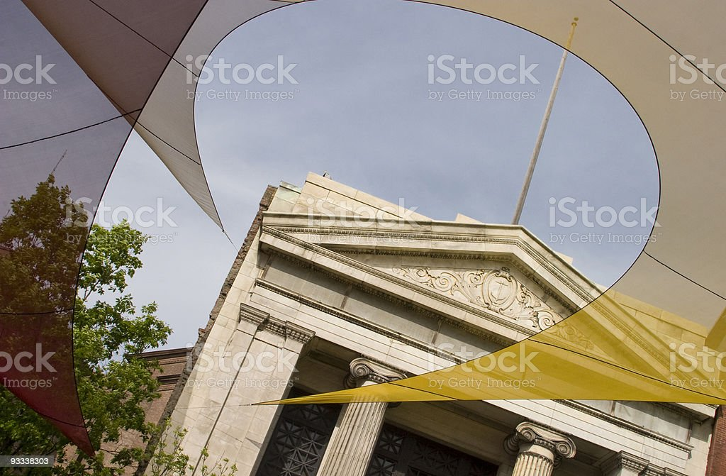 Providence, Rhode Island, Fabric Design, Graceful Curve, Ionic Column stock photo
