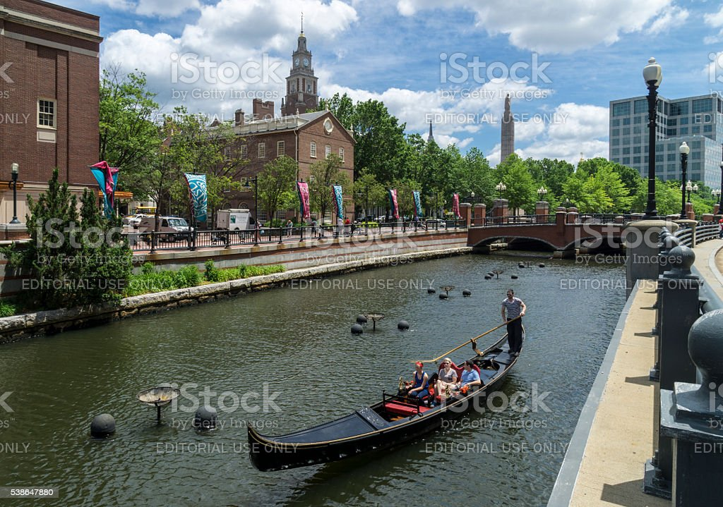 Providence Rhode Island gondola stock photo