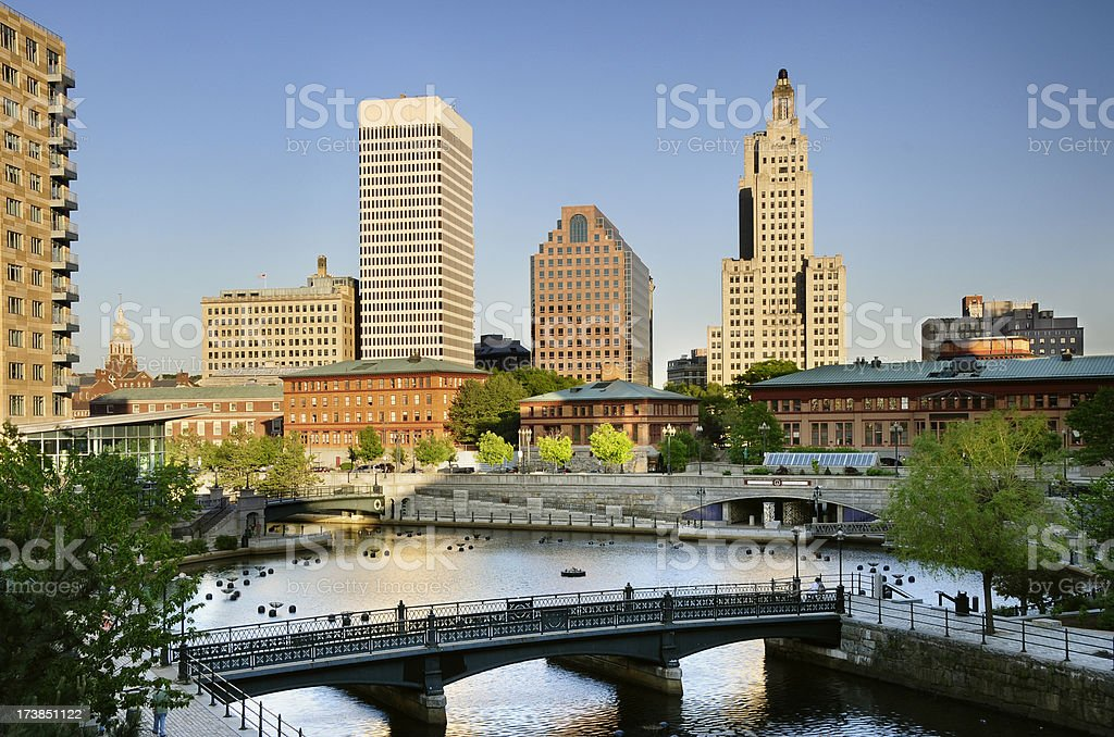 Providence Rhode Island Skyline stock photo