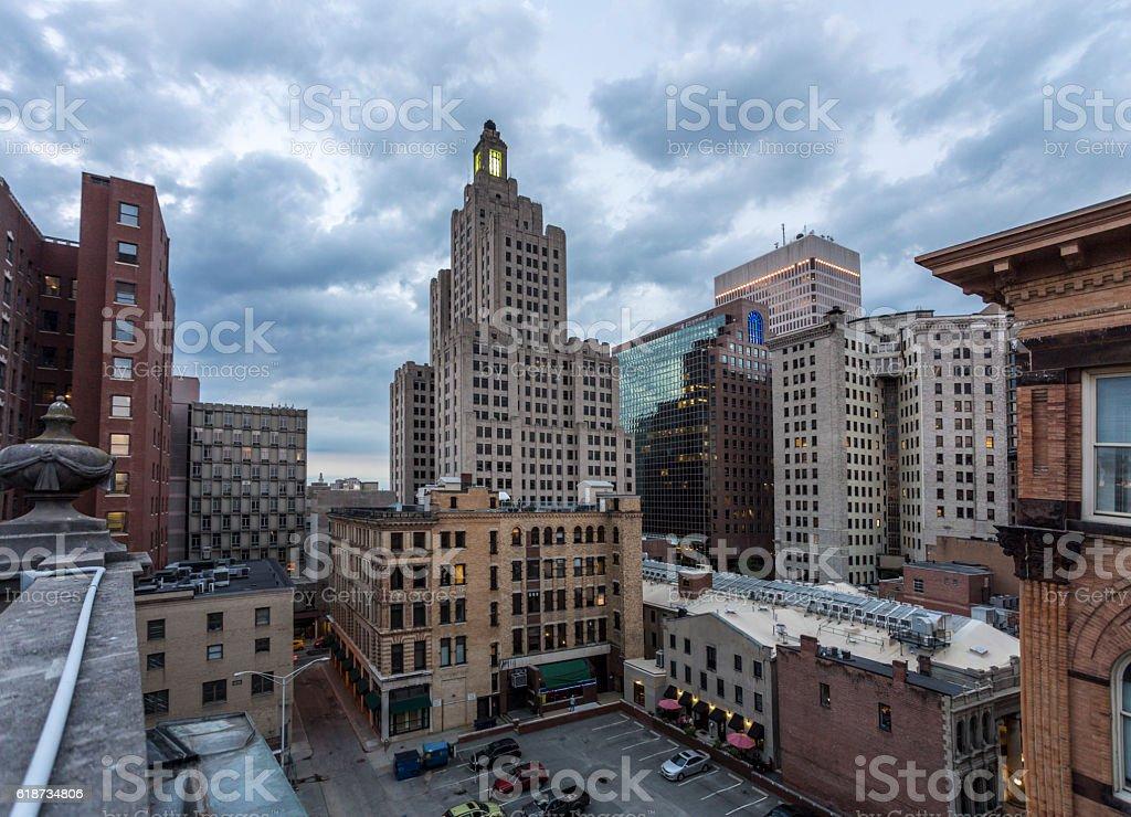 Providence Rhode Island View stock photo