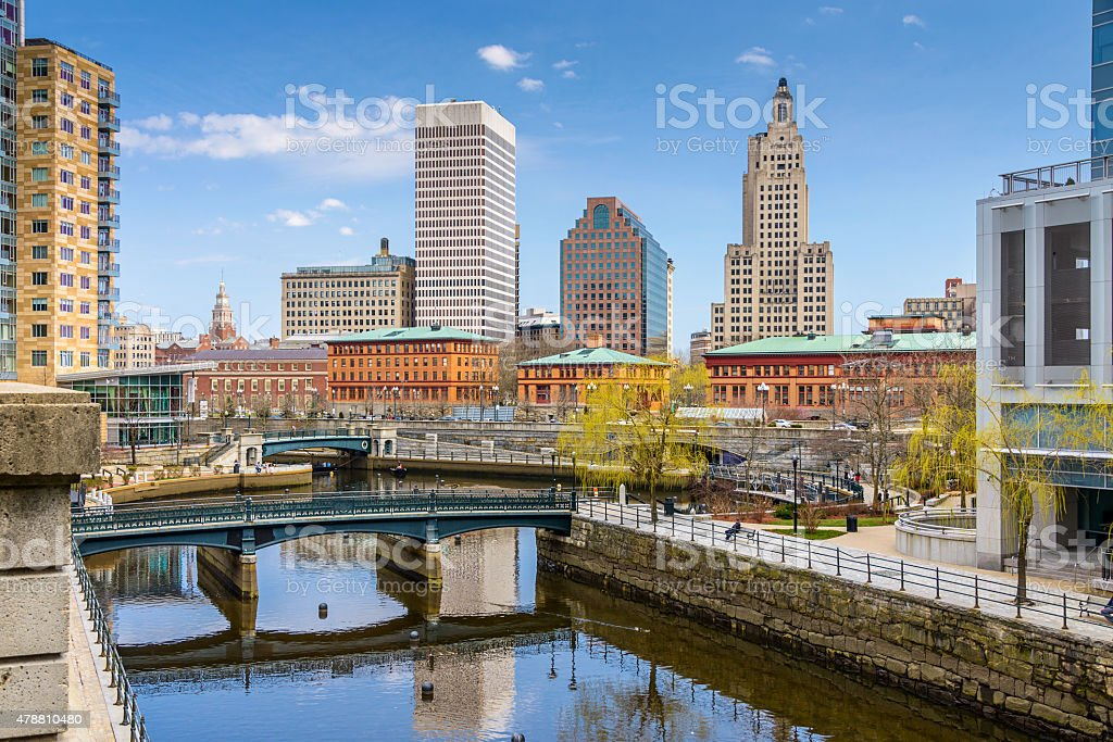 Providence Skyline stock photo