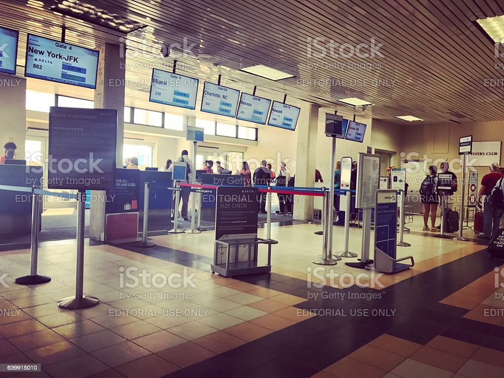 Providenciales airport Gates. Turks and Caicos Islands stock photo